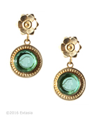 Mykonos Seafoam Intaglio Post Earrings, price: $122.00. Click on 'Large View' for large picture