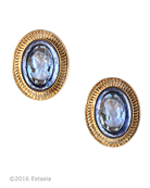 New! Mykonos Sapphire Intaglio Clip Earrings, price: $167.00. Click on 'Large View' for large picture