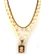 Cameo Multistrand Necklace, price: $249.00. Click on 'Large View' for large picture