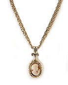 New! Multistrand Victoriana Cameo Necklace, price: $212.00. Click on 'Large View' for large picture