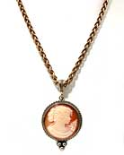 Daughters of Dust Cameo Necklace, price: $250.00. Click on 'Large View' for large picture