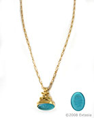 Zircon Watch Fob Cameo Necklace, price: $118.00. Click on 'Large View' for large picture