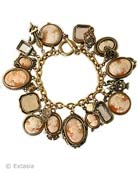 Italian Shell Cameo Charm Bracelet, price: $1316.00. Click on 'Large View' for large picture