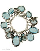 An Aqua coloration in our bestselling Charm du Jour bracelet.  7.5 inches.