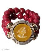 New! Citrine Beaded Intaglio Bracelet, price: $269.00. Click on 'Large View' for large picture