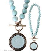 Aqua Scala Intaglio Necklace, price: $257.00. Click on 'Large View' for large picture